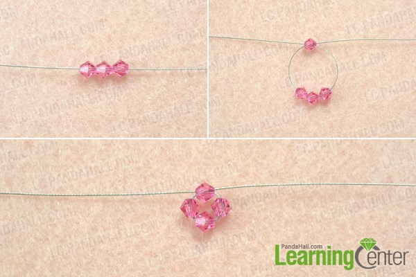How to make a 3d crystal beaded heart pendant step by step bead make the beaded heart pendant pattern aloadofball Image collections