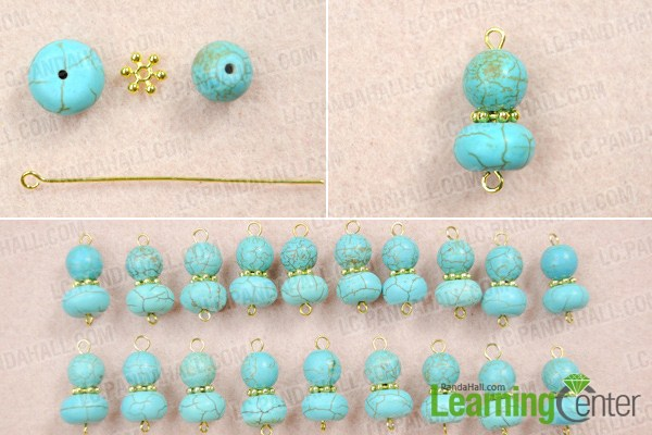 Make basic turquoise chain necklace