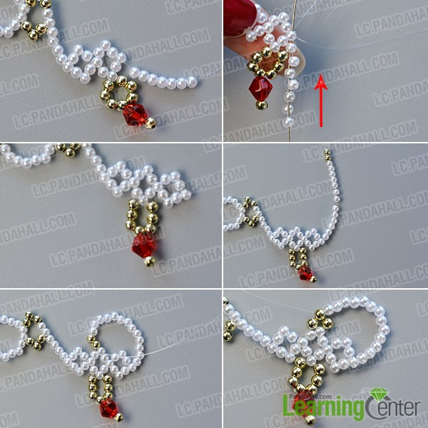 Continue to make the middle part of the necklace