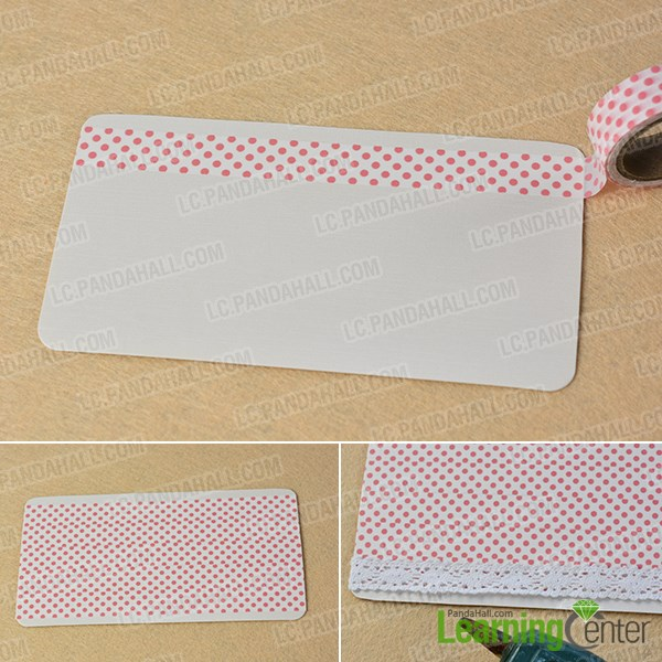 Cover the blank card with tapes