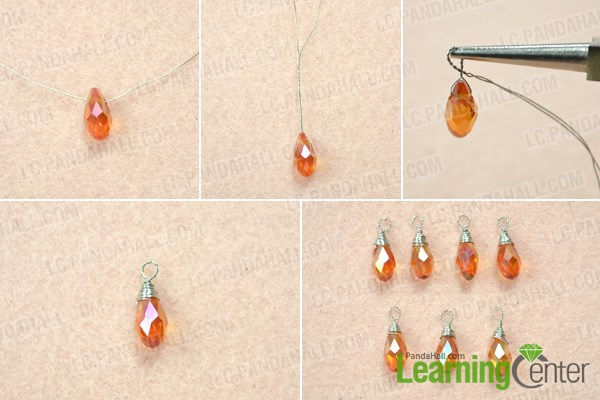 Make bead dangles for the lariat style necklace