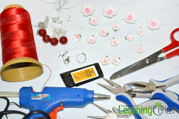 Materials on how to make polymer clay jewelry