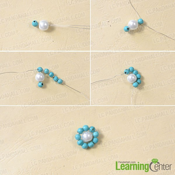 Make a beaded flower pattern