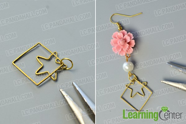 finish this flower dangle earring