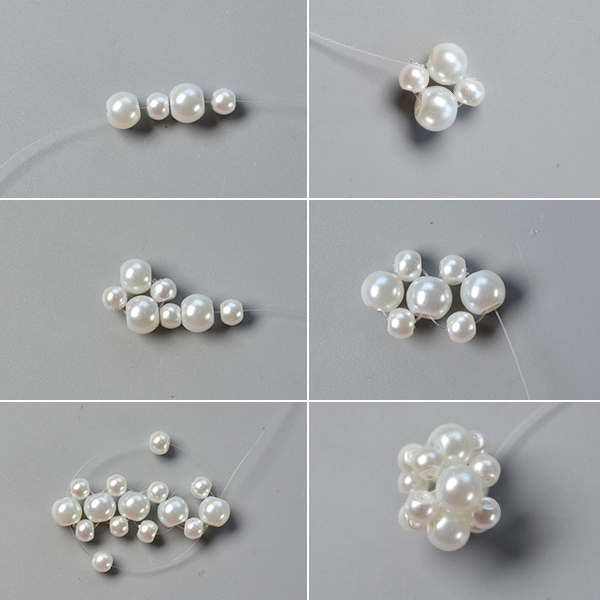 Step 1: Make the pearl beaded patterns