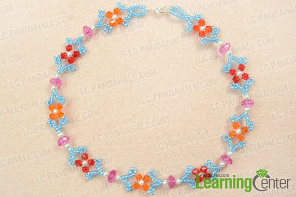 finish how to make beautiful necklace at home