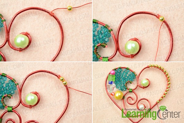 make wire wrapped heart pendant