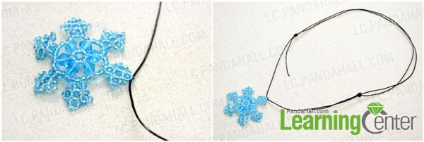 Make a necklace with the beaded snowflake pendant