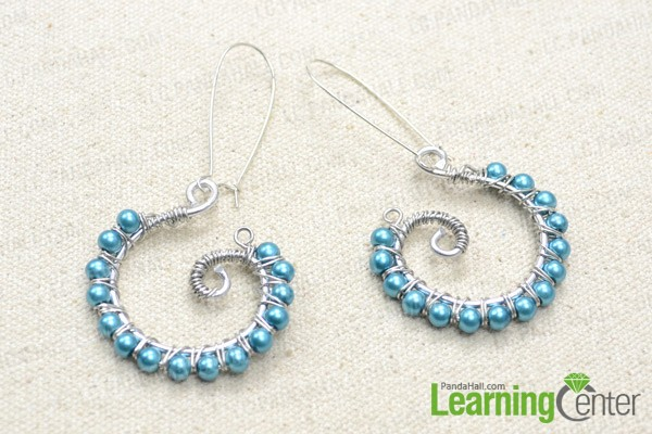 Handmade wire wrapped earrings are done