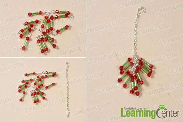 Make the beading drop of necklace