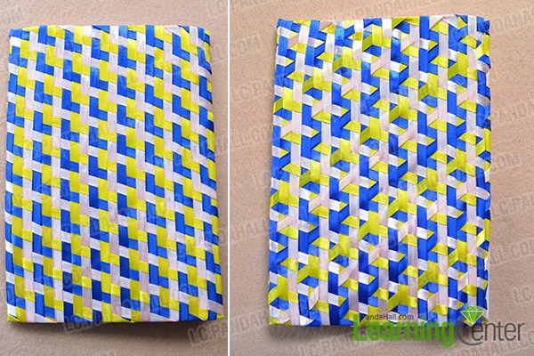 make the rest part of the handmade ribbon notebook cover