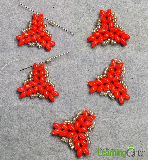 Continue to make the seed beads pattern