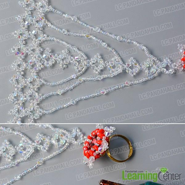 make the rest part of the bling beaded slave bracelet