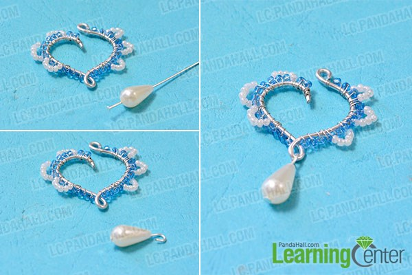Make the pearl bead dangle