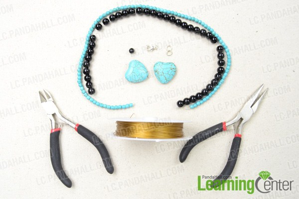 Materials in making bow pendant necklace
