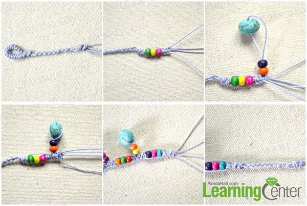 thread beads and make knots