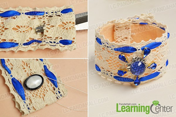 Finish the handmade cuff bracelet