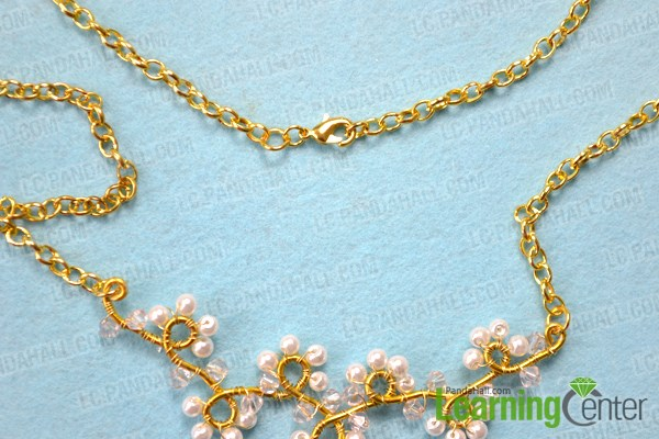 Finish wire wrapped necklace tutorial