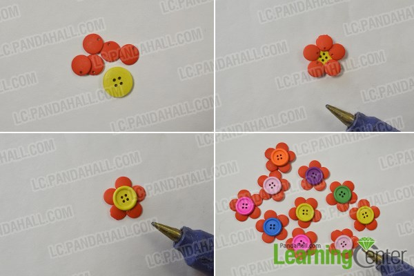 How to DIY Colorful Flower Button Bouquet Quickly 1