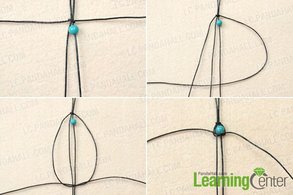 Stringing Beads Knots String Turquoise Beads For