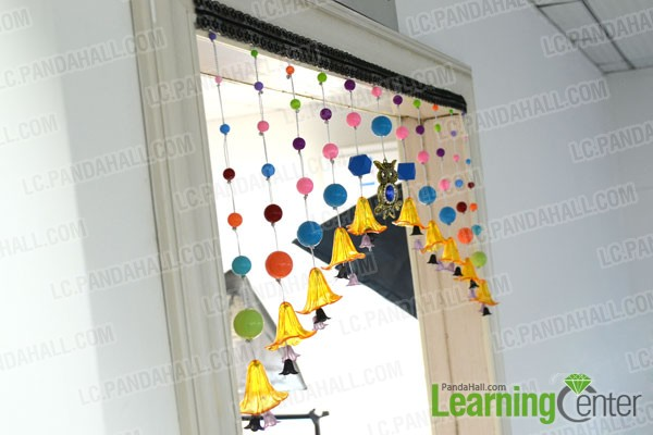 finished beads curtain design