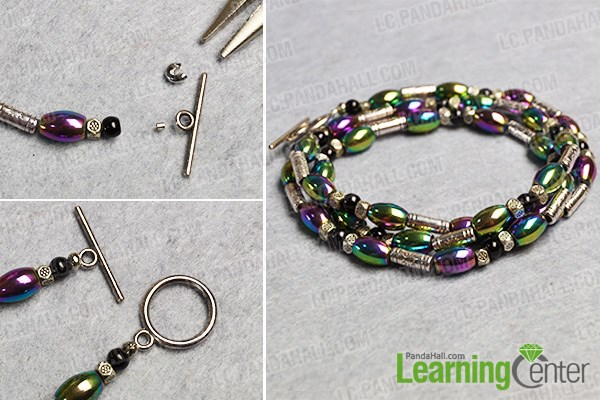 finish this Tibetan beaded bracelet
