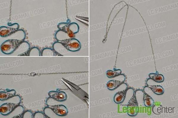 Attach a silver chain