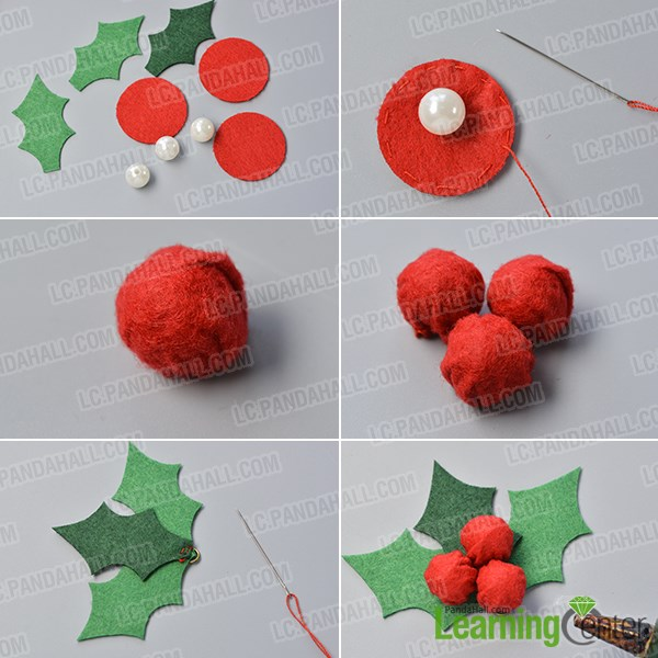 Make the holly leaves