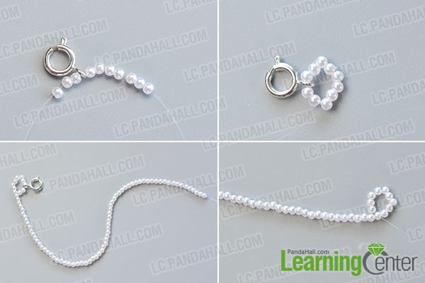 Make the first part of the pearl bracelet