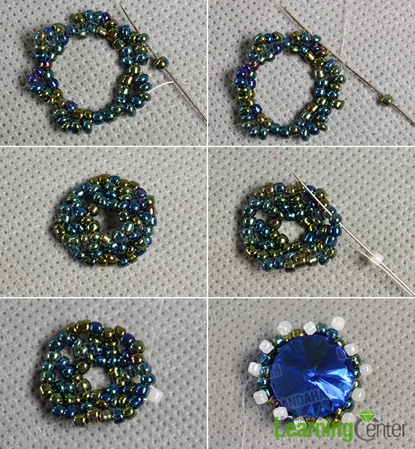 Add more seed beads to the beads flower pattern