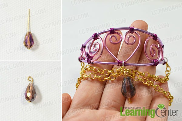hang a pendant on the middle of the bangle bracelet