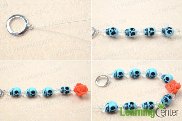 Instruction on DIY skull bracelet