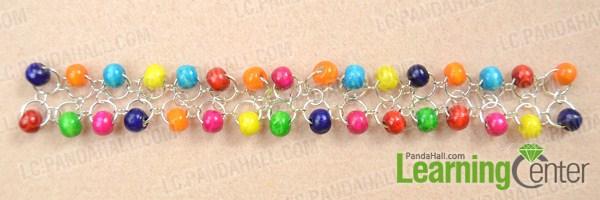 Make basic wood bead bracelets
