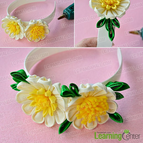 make the rest part of the yellow ribbon flower headband