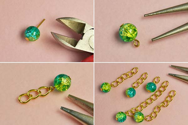 Step 1: Make the bead chain patterns