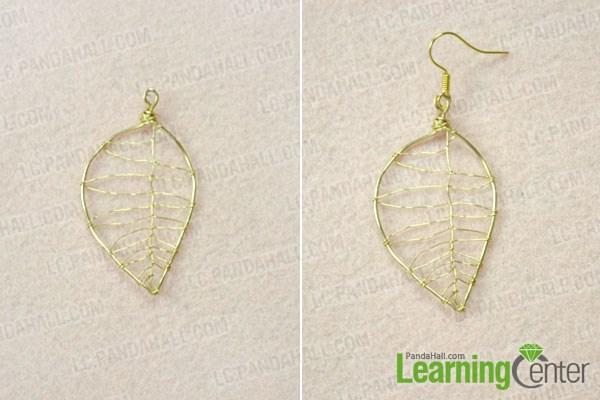 Finish leaf design earrings