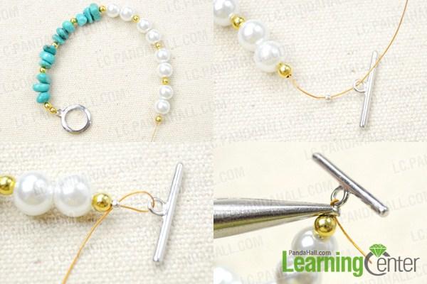 starfish charm and bead bracelets
