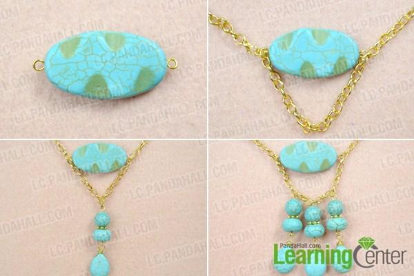 finish turquoise choker necklace