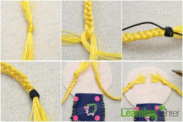Step 4: Make doll's braids