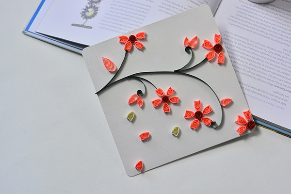 How to make lifelike paper quilling plum flowers cards step by step now this lifelike quilling paper plum flowers card is finished in a short time mightylinksfo