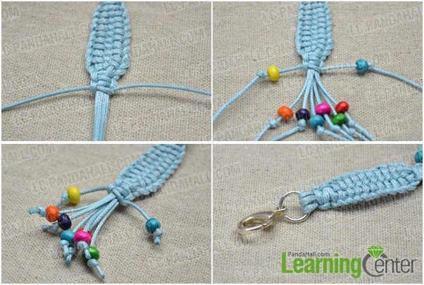 Step 2: Complete the braided lanyard keychain