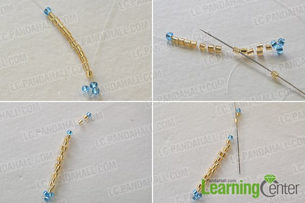 Step 1: Make the base part of the beading earrings
