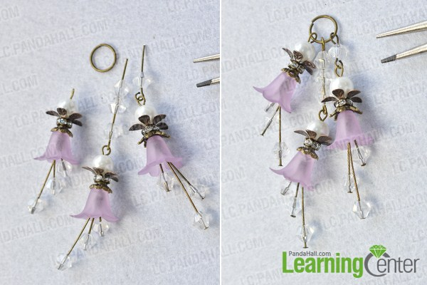 make the first part of the purple flower pendant necklace