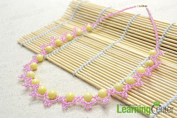finished bead lace necklace pattern