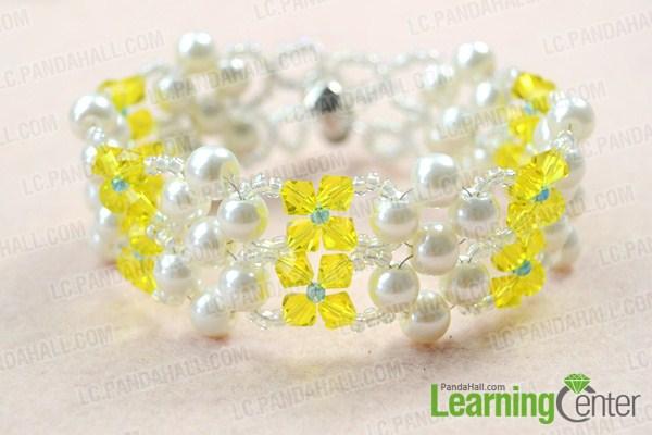 finish beaded cuff bracelet pattern