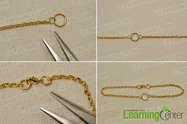 Make a gold chain anklet