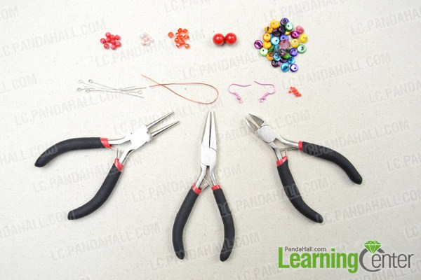 Materials on how to make seashell earrings