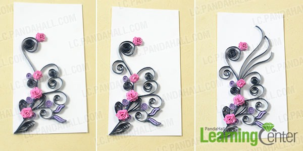 add paper rose to the paper card