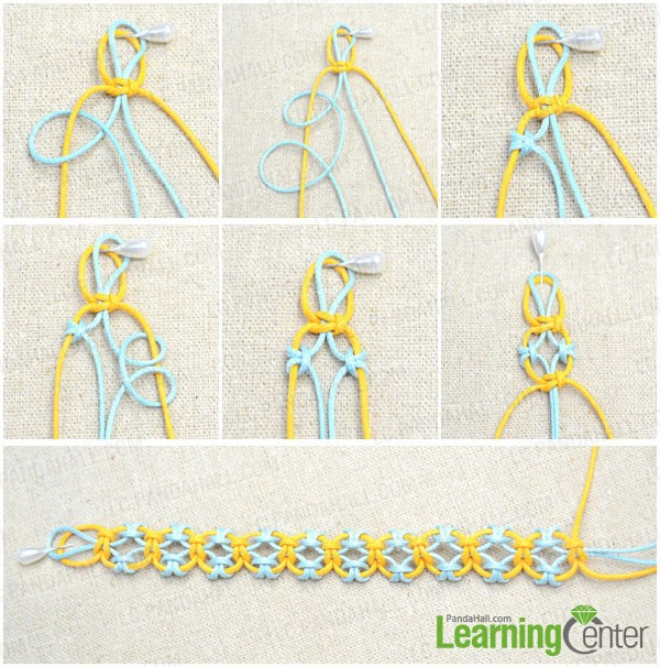 Knitting Starting Knot : How to knit a friendship bracelet with lark s head knots