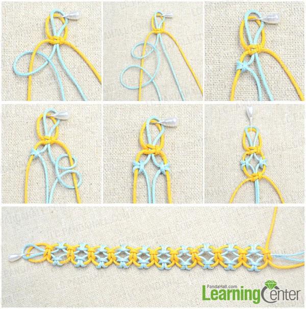 start knitting lark's head knot bracelet